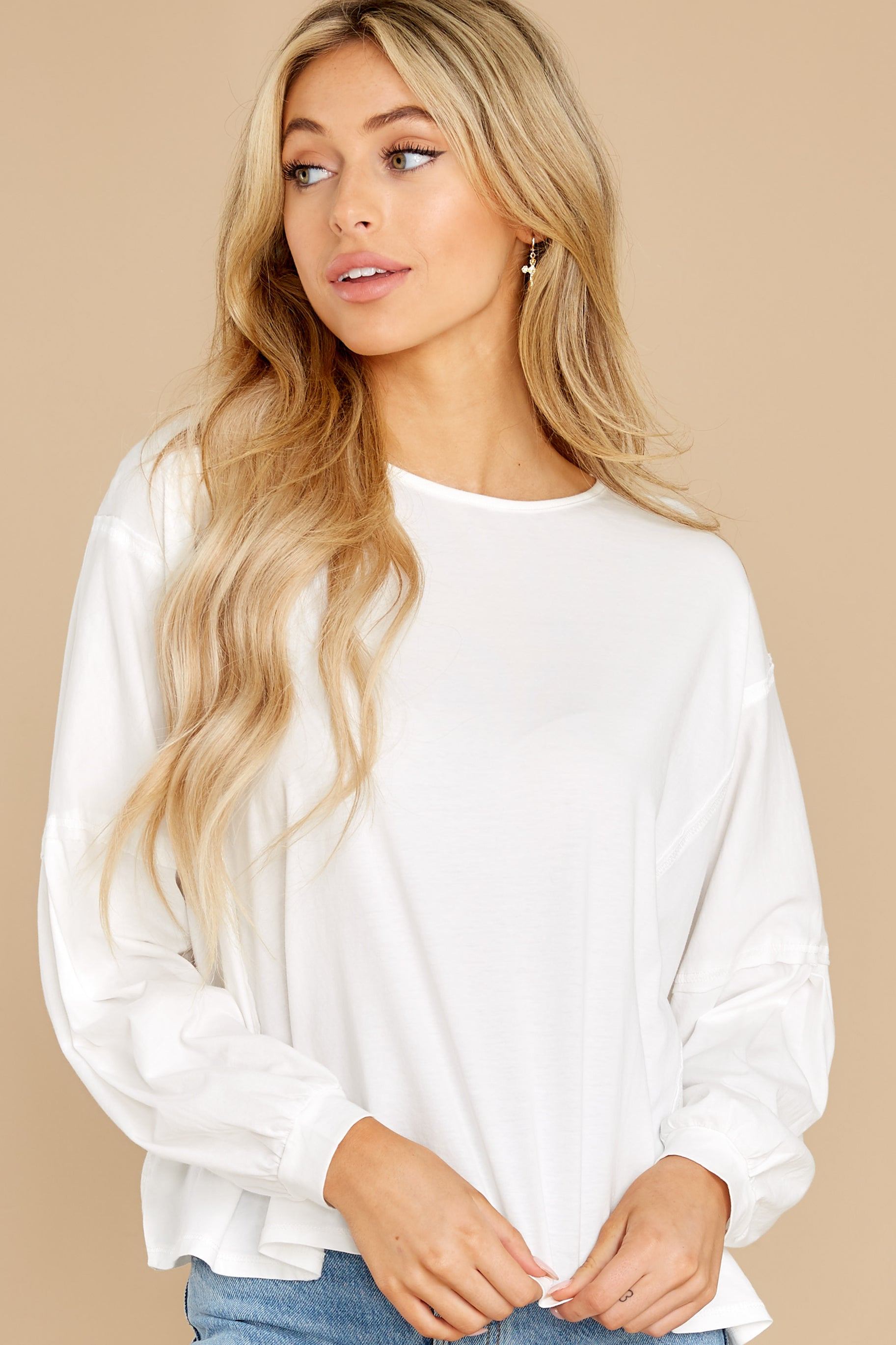 5 Can't Stop This White Top at reddress.com