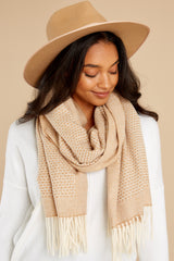 3 Layer Up Khaki Scarf at reddress.com