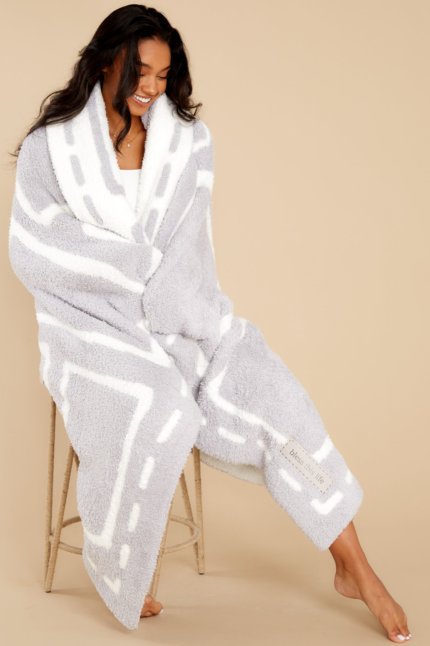 4 CozyChic® Oyster And Pearl Covered In Prayer® Throw at reddress.com