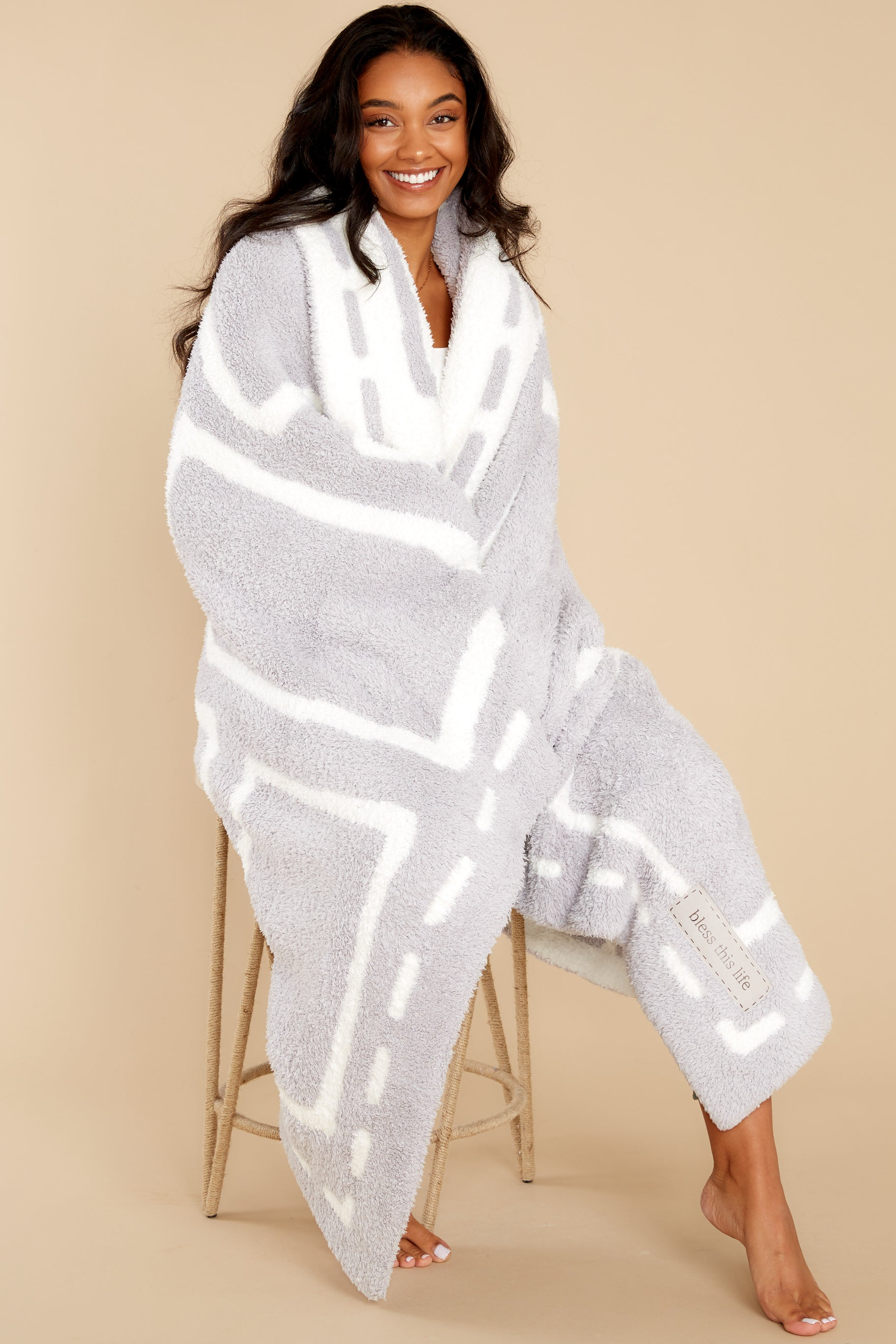 1 CozyChic® Oyster And Pearl Covered In Prayer® Throw at reddress.com