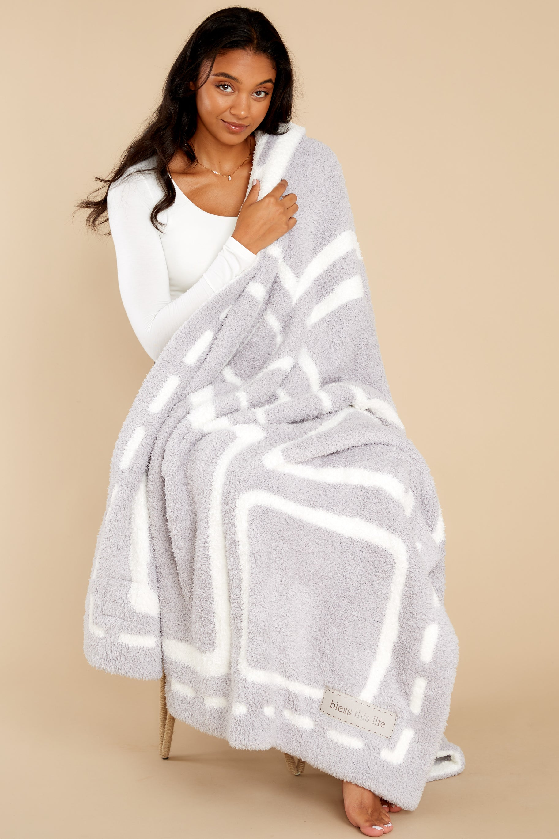 2 CozyChic® Oyster And Pearl Covered In Prayer® Throw at reddress.com