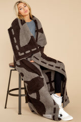 1 CozyChic® Charcoal And Espresso Covered In Prayer® Throw at reddress.com