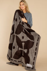 2 CozyChic® Charcoal And Espresso Covered In Prayer® Throw at reddress.com