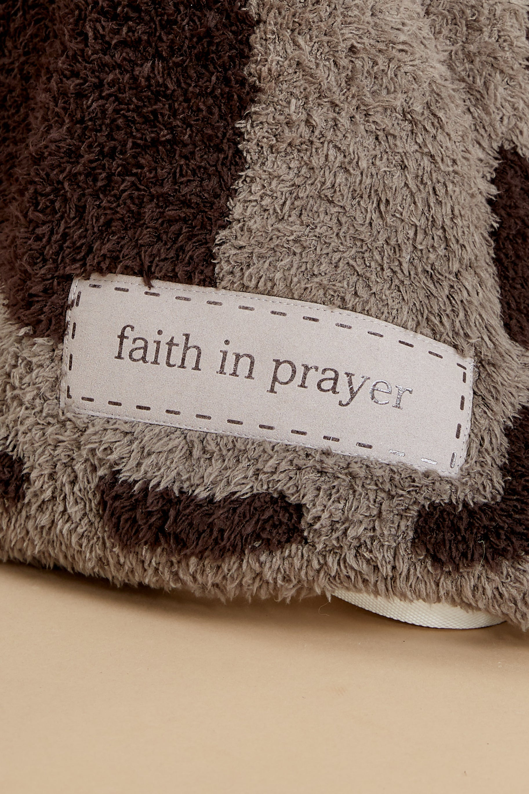 5 CozyChic® Charcoal And Espresso Covered In Prayer® Throw at reddress.com
