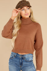 5 Back On Again Camel Sweater at reddress.com
