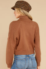 7 Back On Again Camel Sweater at reddress.com