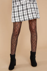 2 Heart To Heart Black Tight End Tights at reddressboutique.com