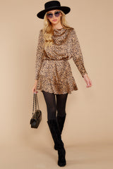 4 Worth The Chase Tan Cheetah Print Dress at reddressboutique.com