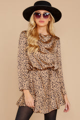 5 Worth The Chase Tan Cheetah Print Dress at reddressboutique.com