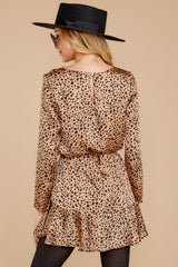8 Worth The Chase Tan Cheetah Print Dress at reddressboutique.com