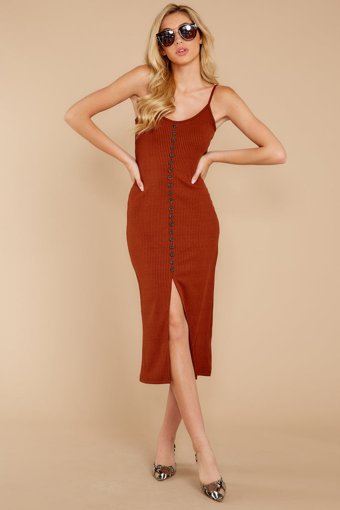 1 Smooth Talker Champagne Midi Dress at reddressboutique.com