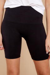 2 Look At Me Now Black Bike Shorts at reddressboutique.com