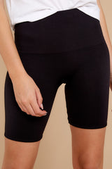 1 Look At Me Now Black Bike Shorts at reddressboutique.com