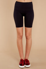 3 Look At Me Now Black Bike Shorts at reddressboutique.com