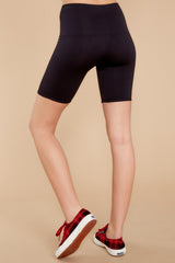 4 Look At Me Now Black Bike Shorts at reddressboutique.com