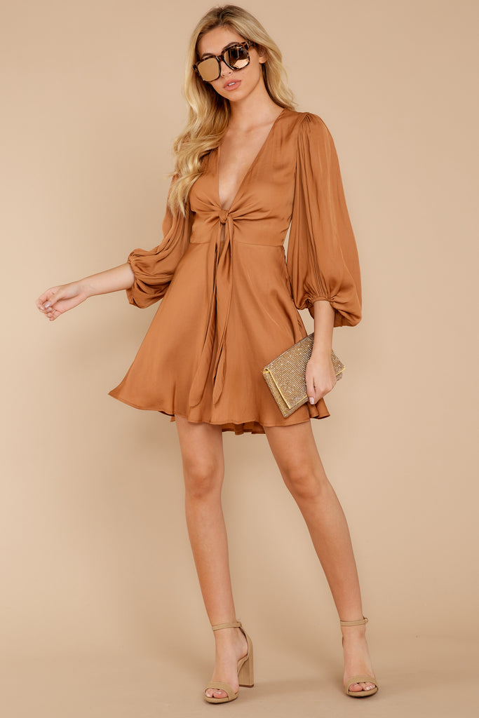 1 Needs Lattes Caramel Dress at reddressboutique.com