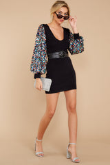 1 Moment To Shine Black Sequin Dress at reddress.com