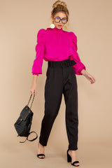 4 Into The Office Black Pants at reddressboutique.com