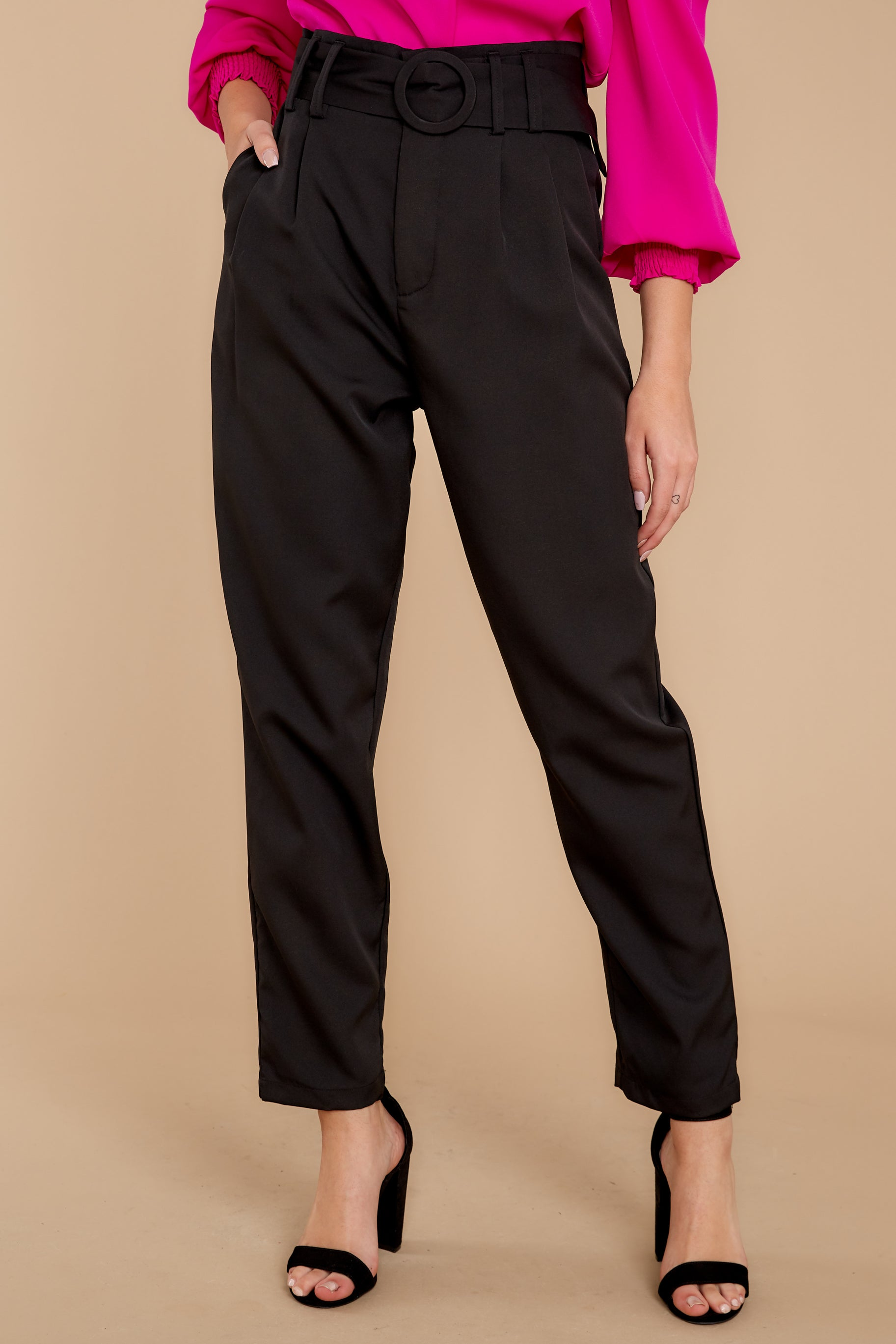 1 Into The Office Black Pants at reddressboutique.com