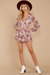 2 Called To Mind Ivory And Red Print Romper at reddressboutique.com