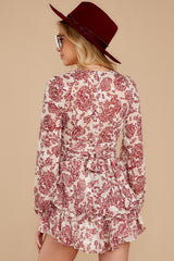 8 Called To Mind Ivory And Red Print Romper at reddressboutique.com