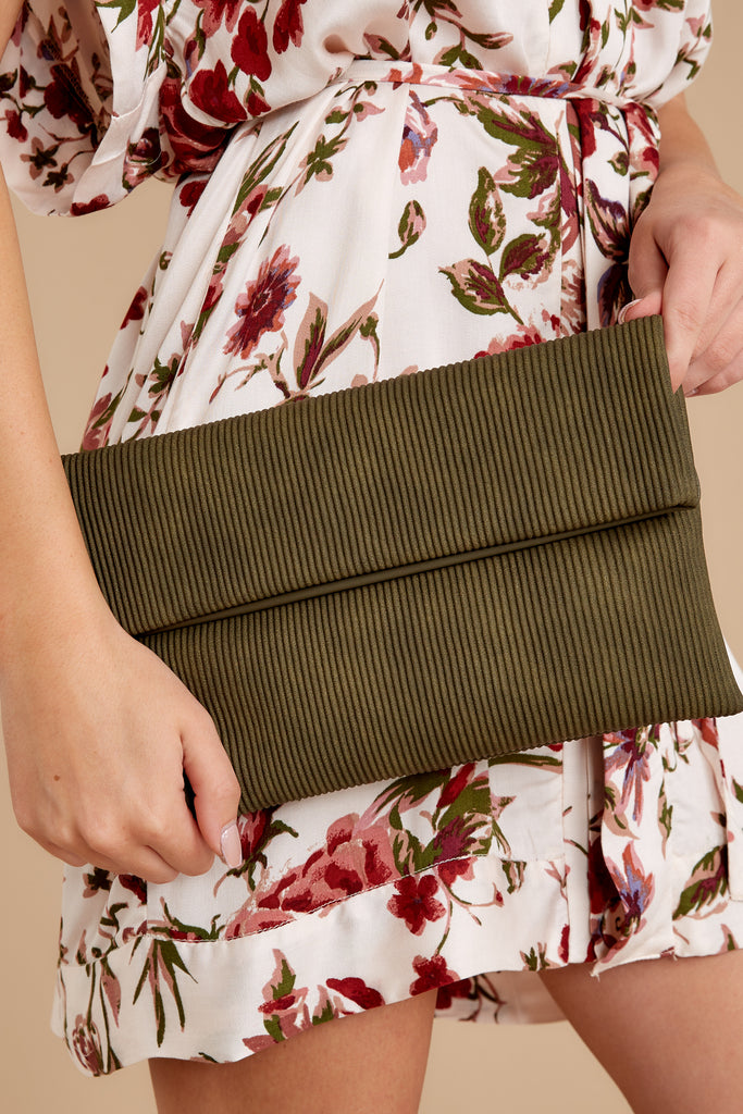 1 Living Fashionably Brown Clutch at reddressboutique.com