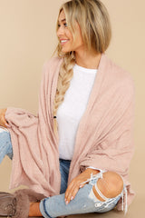 1 Kinsey Silver Pink Feather Wrap at reddress.com