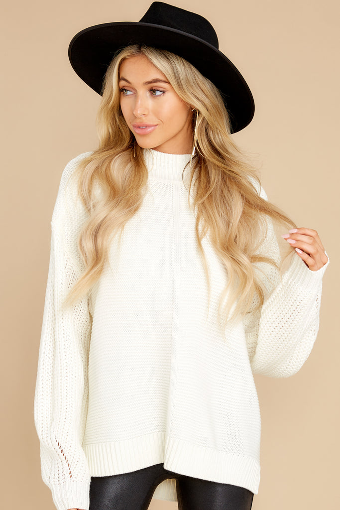 1 Forever In Love Ivory Tunic Sweater at reddress.com