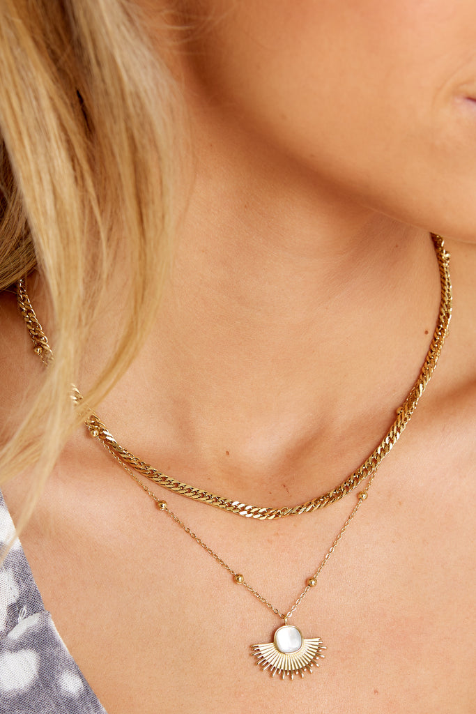 1 Our Forever Gold Necklace at reddress.com