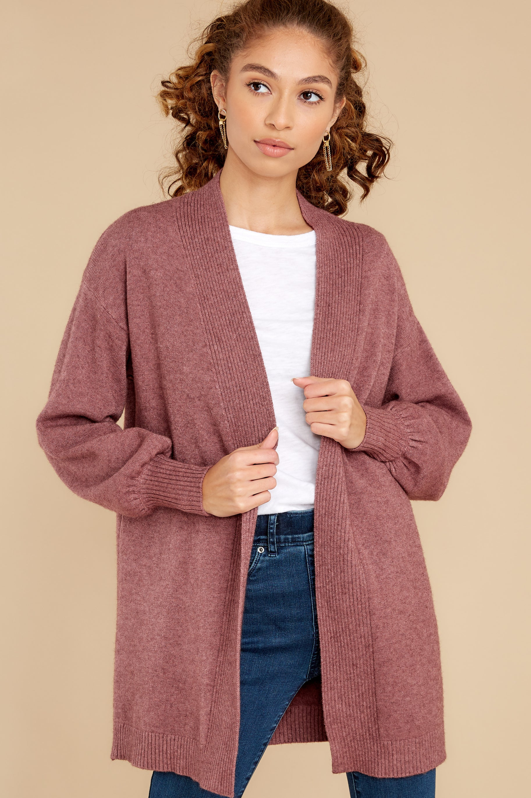 1 Closely Watching Raspberry Cardigan at reddress.com