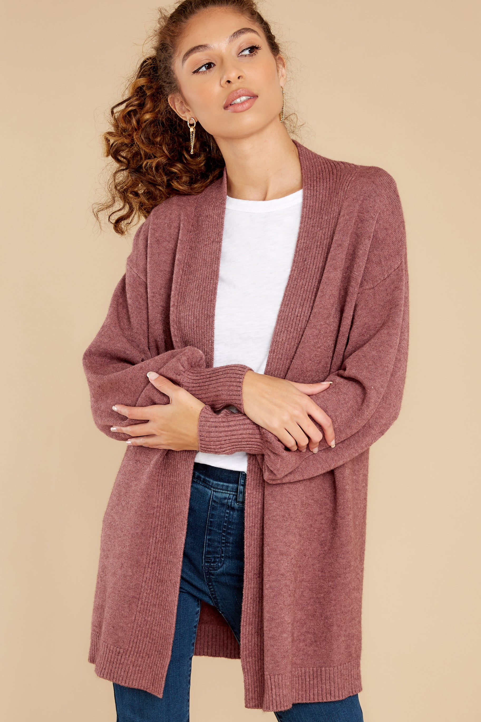 5 Closely Watching Raspberry Cardigan at reddress.com