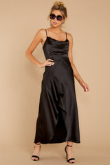 6 See You Tonight Black Midi Slip Dress at reddressboutique.com