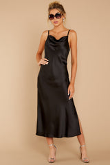 2 Just One Look Black Midi Dress at reddressboutique.com
