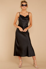 7 Just One Look Black Midi Dress at reddressboutique.com