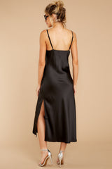 8 Just One Look Black Midi Dress at reddressboutique.com