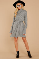 1 Ready Willing And Cable Grey Sweater Dress at reddressboutique.com