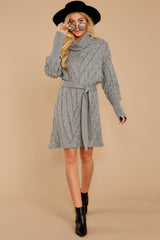 2 Ready Willing And Cable Grey Sweater Dress at reddressboutique.com