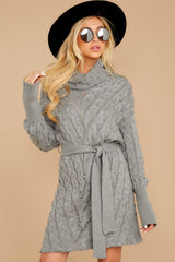 4 Ready Willing And Cable Grey Sweater Dress at reddressboutique.com