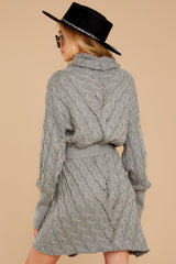 8 Ready Willing And Cable Grey Sweater Dress at reddressboutique.com