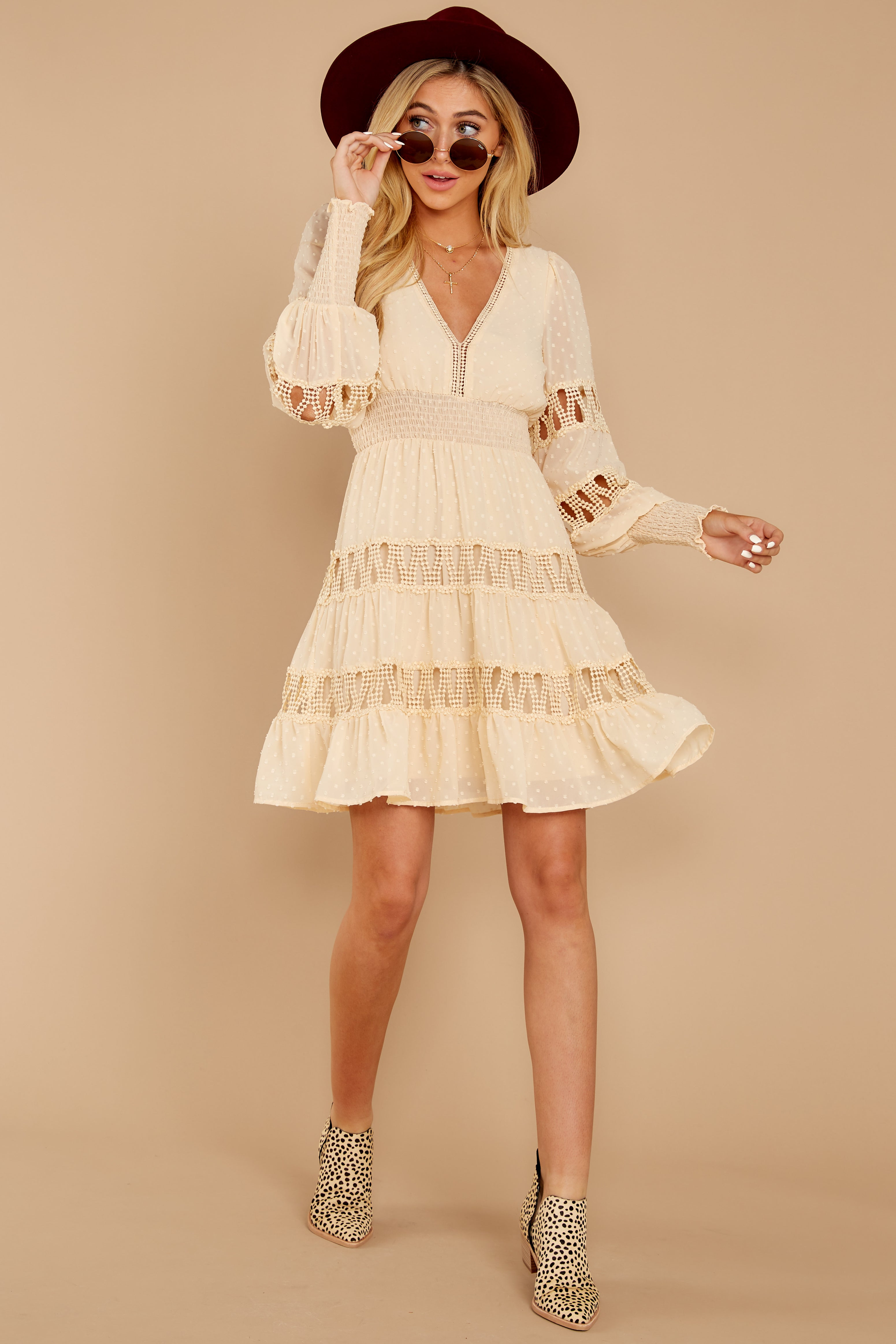 1 Of Romance And Lace Cream Dress at reddressboutique.com