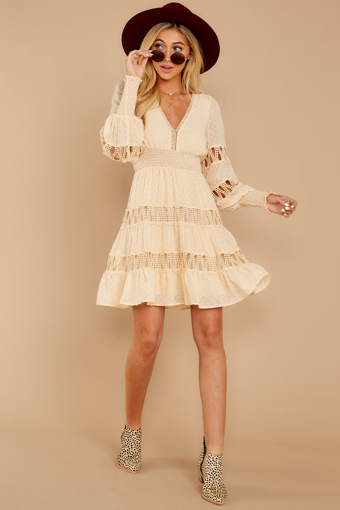 1 Someplace New Ivory And Rose Multi Dress at reddressboutique.com