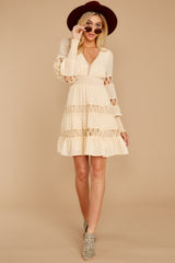 3 Of Romance And Lace Cream Dress at reddressboutique.com