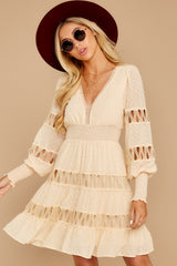 4 Of Romance And Lace Cream Dress at reddressboutique.com