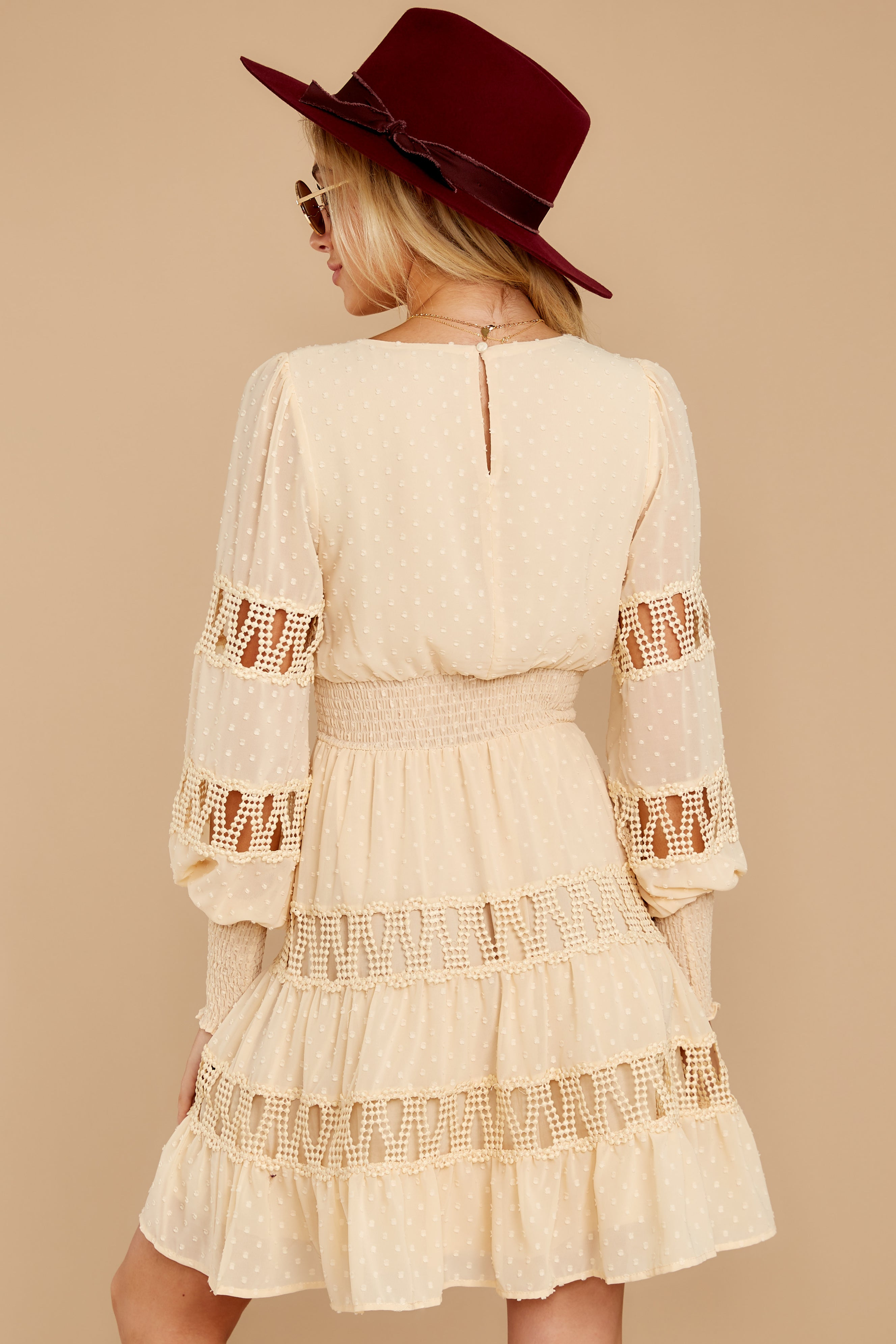 8 Of Romance And Lace Cream Dress at reddressboutique.com