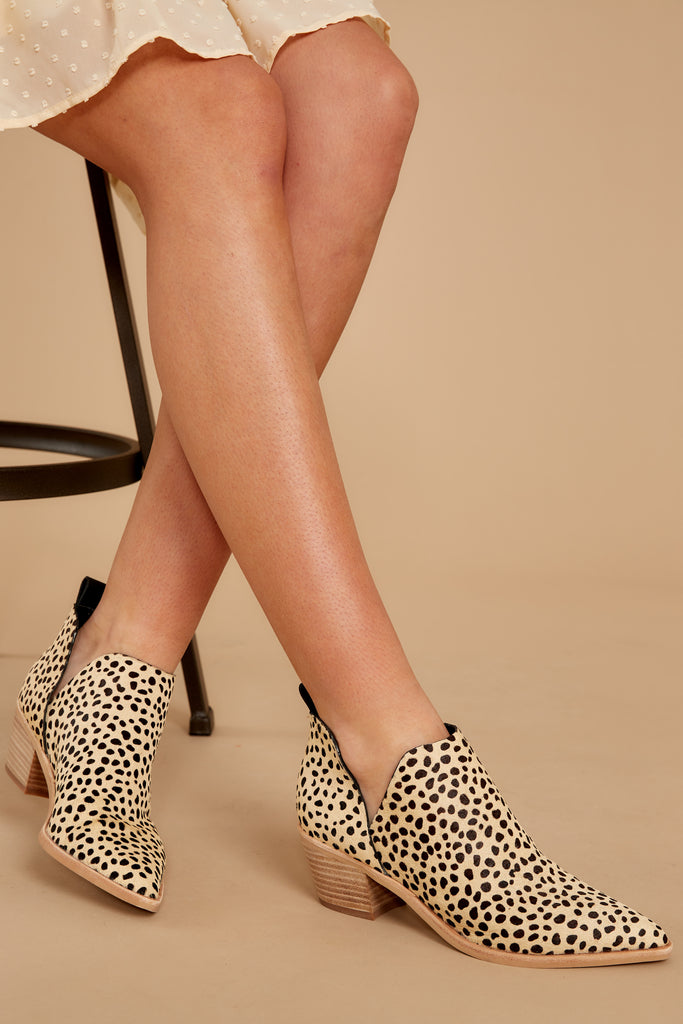 2 City Streets Cheetah Print Ankle Booties at reddressboutique.com