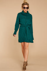 1 Ready Willing And Cable Teal Green Sweater Dress at reddressboutique.com