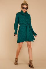 3 Ready Willing And Cable Teal Green Sweater Dress at reddressboutique.com
