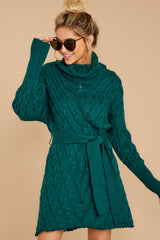 5 Ready Willing And Cable Teal Green Sweater Dress at reddressboutique.com