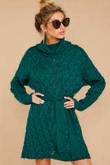 6 Ready Willing And Cable Teal Green Sweater Dress at reddressboutique.com
