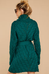 8 Ready Willing And Cable Teal Green Sweater Dress at reddressboutique.com